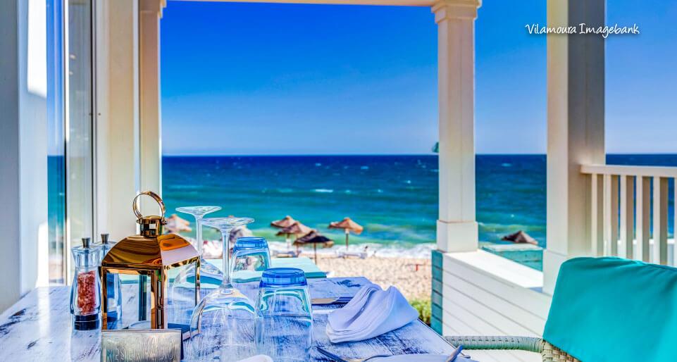 sandbanks beach view restaurant vale do lobo